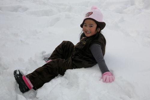 Gwen first snow blog