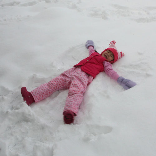 Maddy snow angel blog