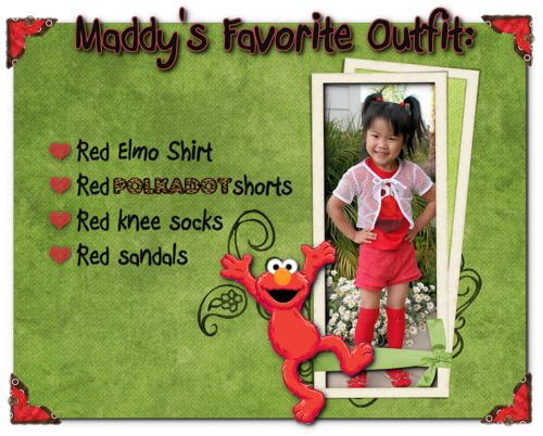 Maddy red outfit blog