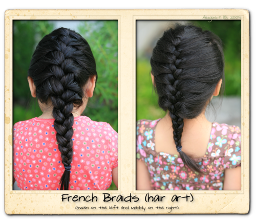 French braids two photos blog