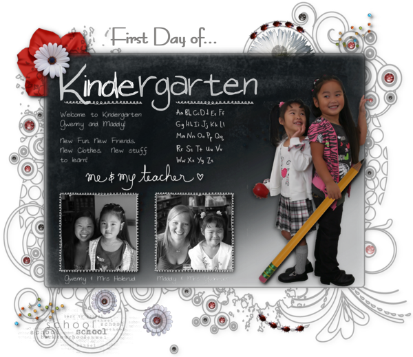 First day of kindergarten landscape