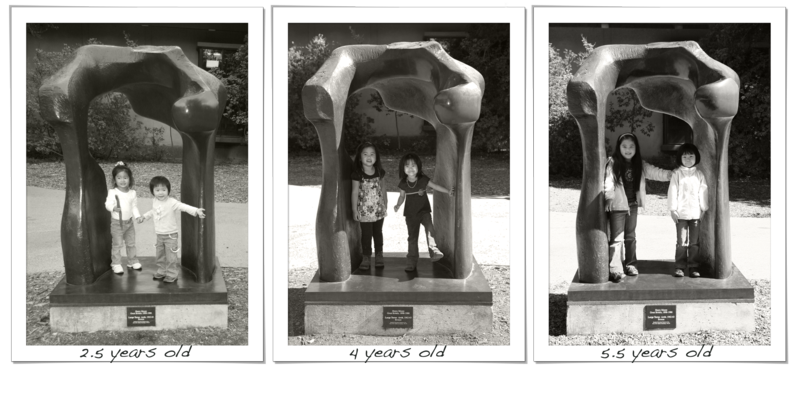 Stanford henry moore statue bw