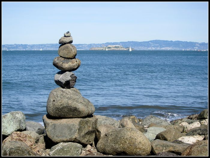 Stacked rocks san francisco