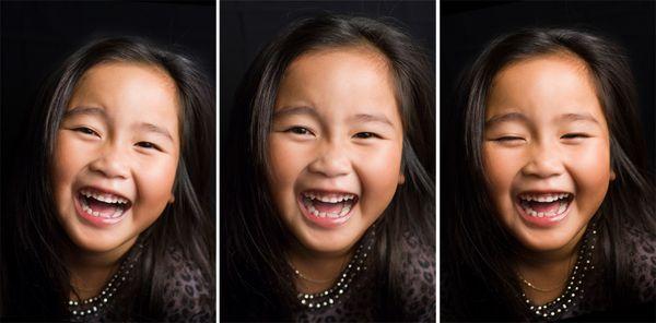 Gwen laughing three frame