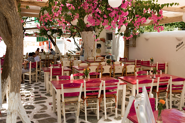 Mykonos 9998 pink tables