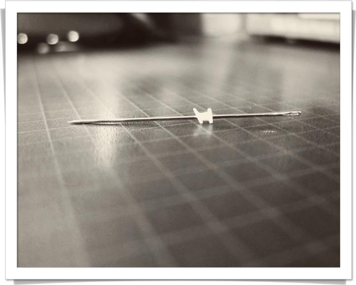 Ear tube on needle cropped